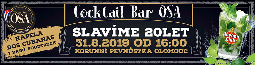 Cocktail Bar USA - Slavíme 20 let 31. 8. 2019